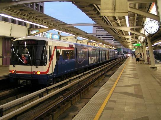 The Sky Train (BTS) in Bangkok, Thailand