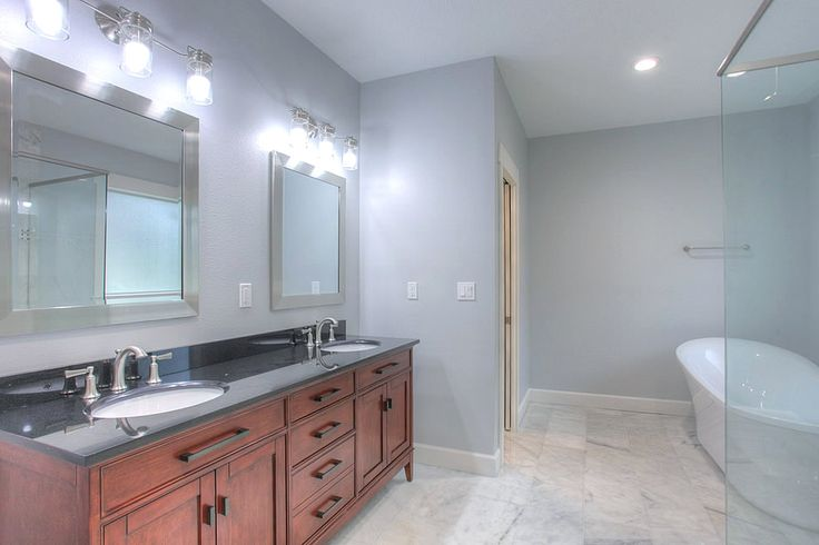 The Grand Palm | DKV Tampa Homes | Master Bathroom Dual Vanity