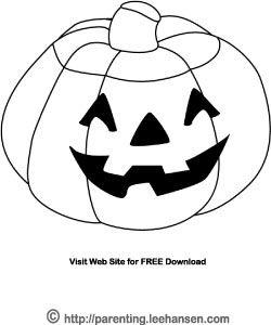 smiling jack o lantern halloween coloring page - Cute Jack Lantern Coloring Page