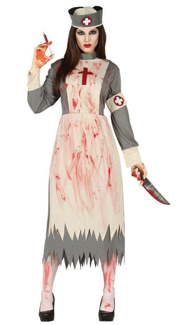 94400b717a4f72 DAMEN KOSTÜM KRANKENSCHWESTER 42-44 (L) Zombie Tod Halloween Karneval