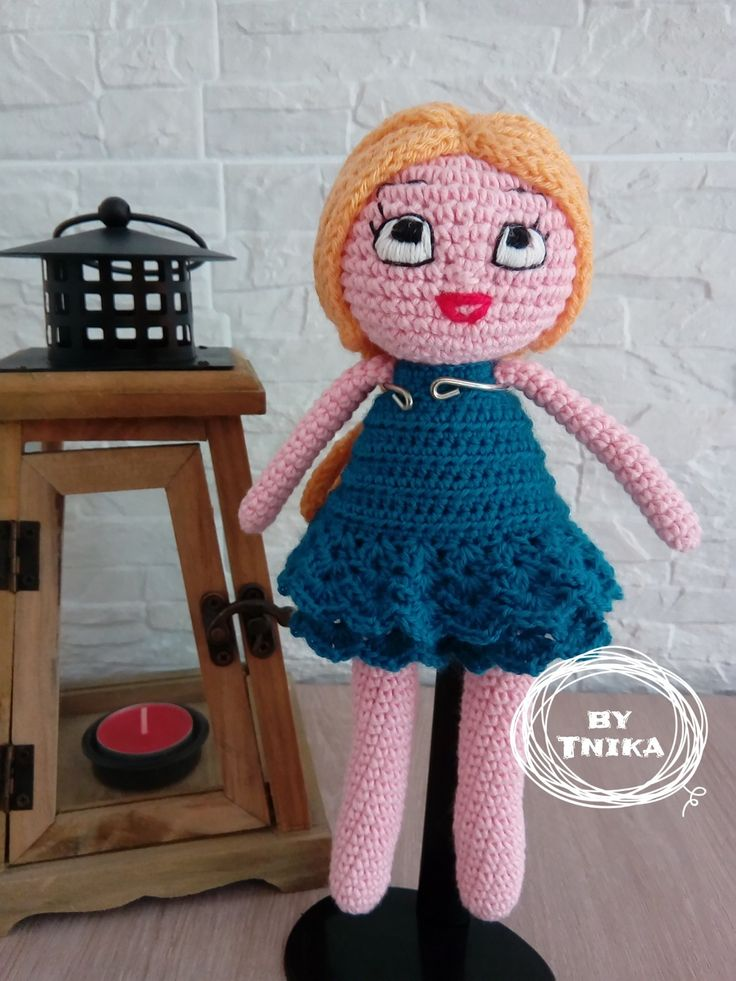 Crochet doll JASMINE, doll by Tnika
