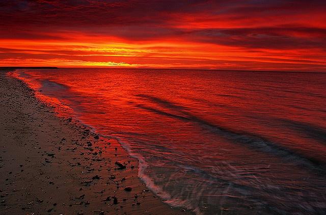 Sunrise at Seagull Beach in West Yarmouth MA
