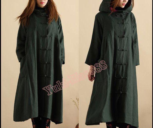 Lange jassen - lang jas, Loose Fit windjak - Een uniek product van Yuki-Hao888 op DaWanda