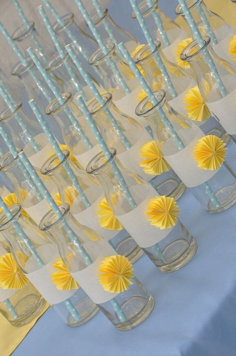 Drink Bottles embellished with accordion fans by Sweet Soirees (www.sweet-soirees.com.au)