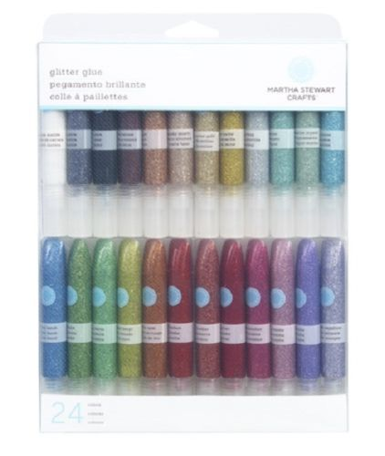 Martha-Stewart-Crafts-Glitter-Glue-Set-24-pc-NEW