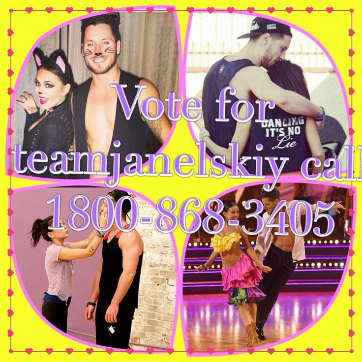 Vote for #teamjanelskiy can't wait for them to dance to the pll theme song #Vanderwaaltz call 1800-868-3405