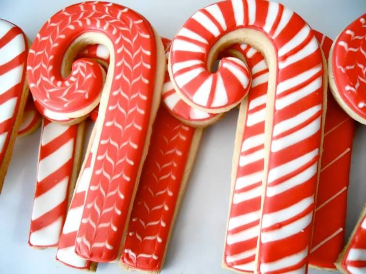 Christmas candy cane cookies by Oh, Sugar! Events