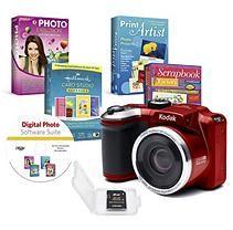 KODAK PIXPRO AZ251 16MP DSC Bundle with 25x Optical Zoom, 8GB SD Card, and Avanquest Digital Photo Software Suite -