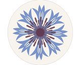 Jenny Duff Gillian Blease flower cornflower design table mats coasters placemats corkbacked Melamine Made in Britain
