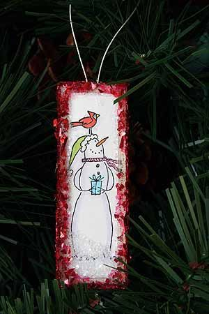 Splitcoaststampers - Microscope Slide Ornament Project Tutorial by Sharon Harnist