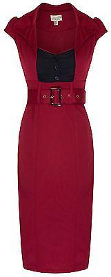 Novo Lindy Bop Chic Estilo Vintage Anos 50 Secretário Vestido LÁPIS TUBETE, Gabinete de trabalho in Roupas, calçados e acessórios, Roupas femininas, Vestidos | eBay