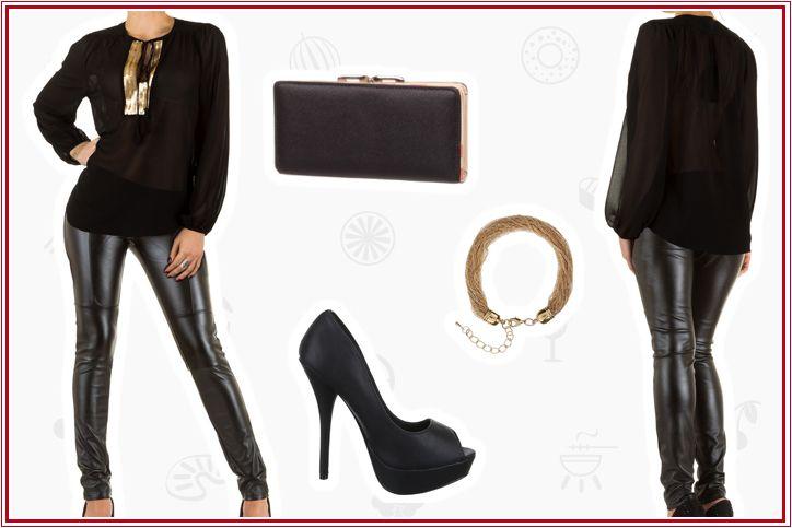 Leggings in Lederoptik für wahre Ladies – das komplette Outfit online shoppen und zum Hingucker werden!