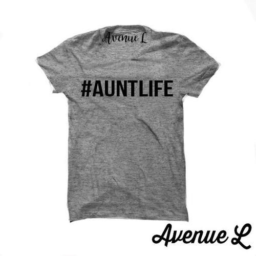 Aunt Life Tee - Fun Aunt Shirt. Vintage Graphic Tees. This tee is perfect for anyone who is kind of an adult but not totally. Our tees are super soft and cozy. You will want to live in them! Check out our other graphic tees and items here:  www.theavenuel.om