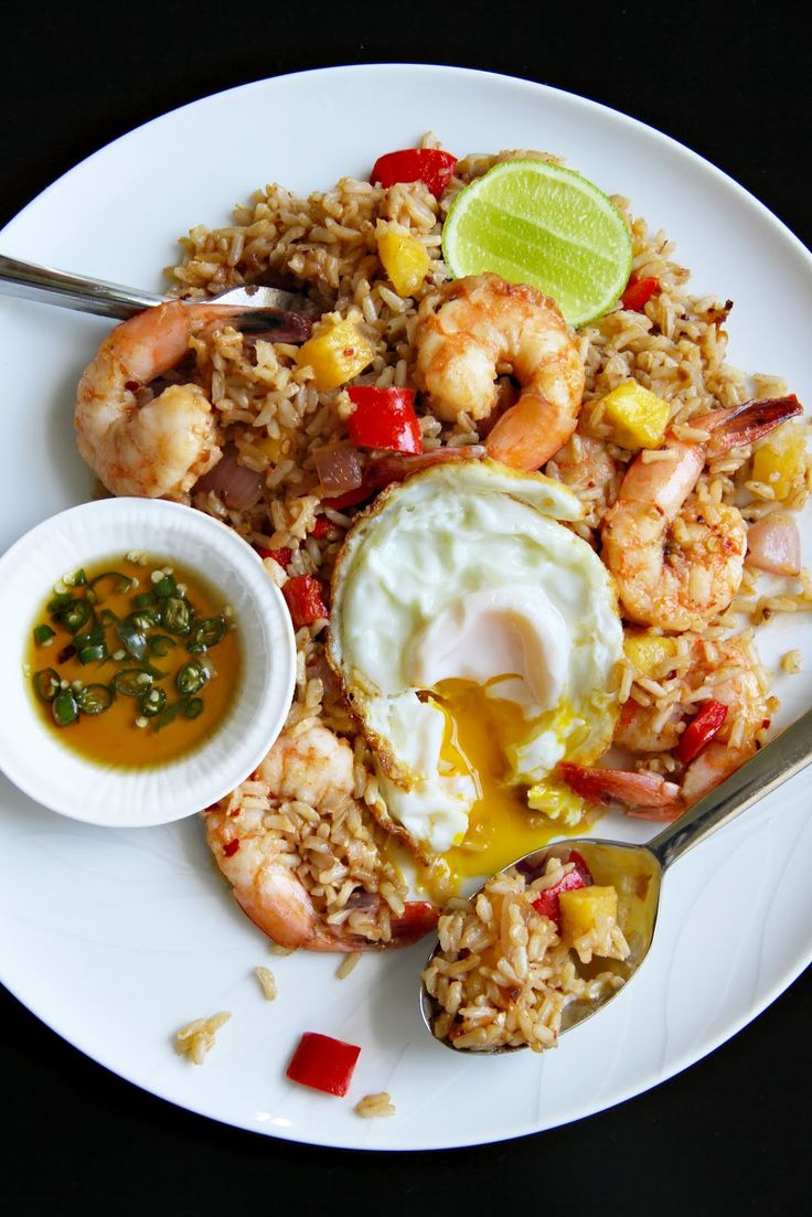 Nam Prik Pao Fried Rice with Shrimp and Pineapple