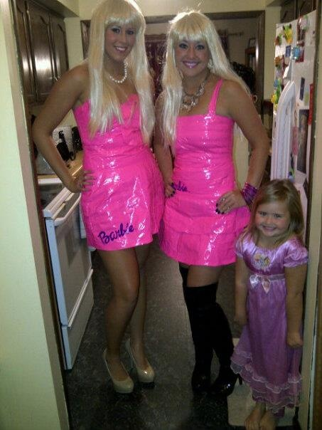 barbie halloween costumes made from pink duct tape my