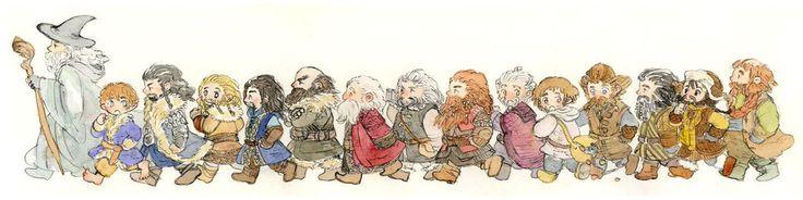 Гэндальф, Бильбо и гномы