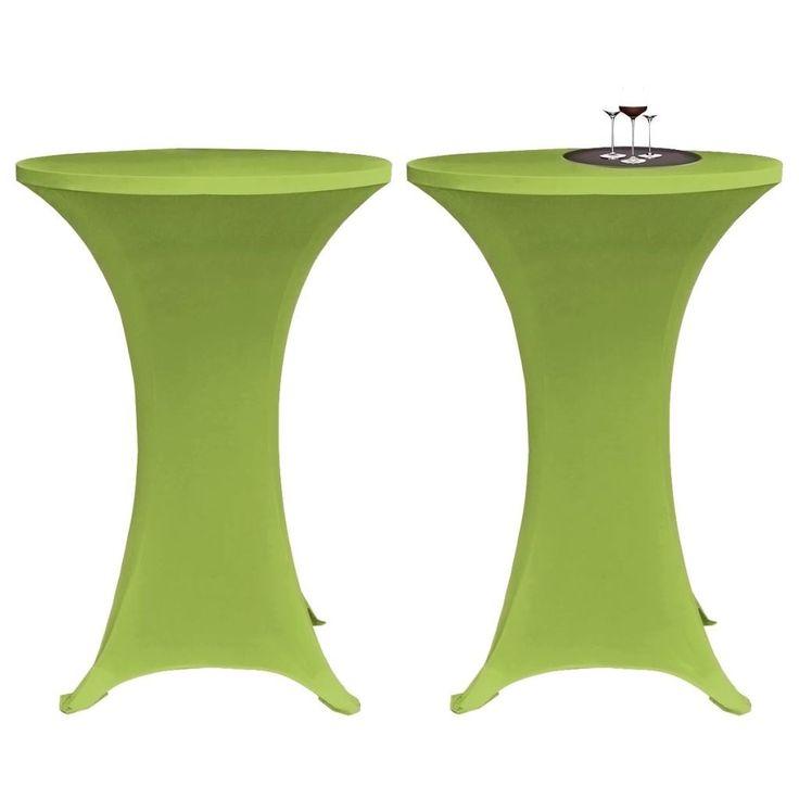 Elastiskt bordsöverdrag 2 st 80 cm grön , Detta bordsöverdrag är perfekt fö…