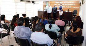 Sandra Luz Pimentel Hernán, toma protesta como Secretaria General del TEEO