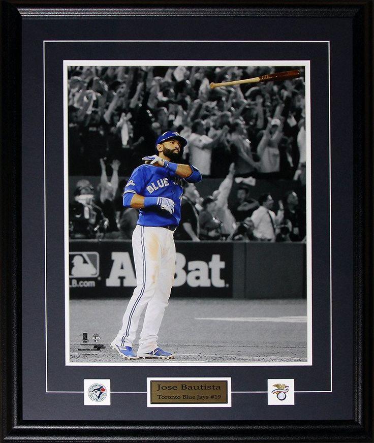 Jose Bautista Toronto Blue Jays Bat Flip Home Run 2015 AL Finals 16x20 photo framed $189.99 plus tax