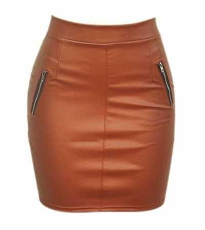 Qiyunz Faldas Lapiz De Cuero  Ofertas especiales y promociones  Caracteristicas Del Producto: QIYUN.Z Cuero de la PU Cuero Modern/Fitted Mini Faldas C