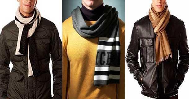 Способы завязывания мужского шарфа на пальто