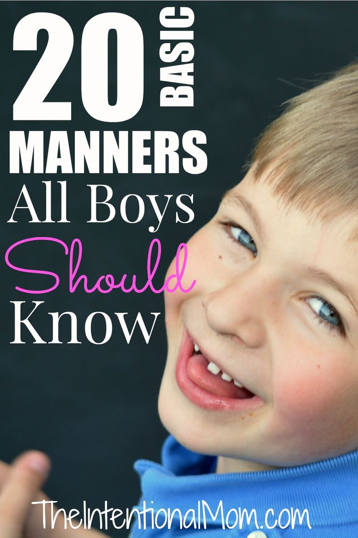 Manners are a vital skill to have in life, at least if one is to succeed. Manners do have to be taught, however. Here are 20 timeless manners for boys.