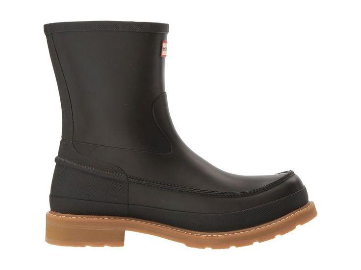 Hunter Original Lightweight Moc-Toe Short Men's Rain Boots Black