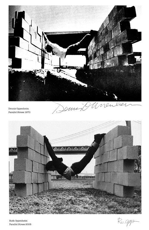 Ruth Oppenheim. Parallel Stress. 2005. Reenactment of the 1970 art work by Dennis Oppenheim.
