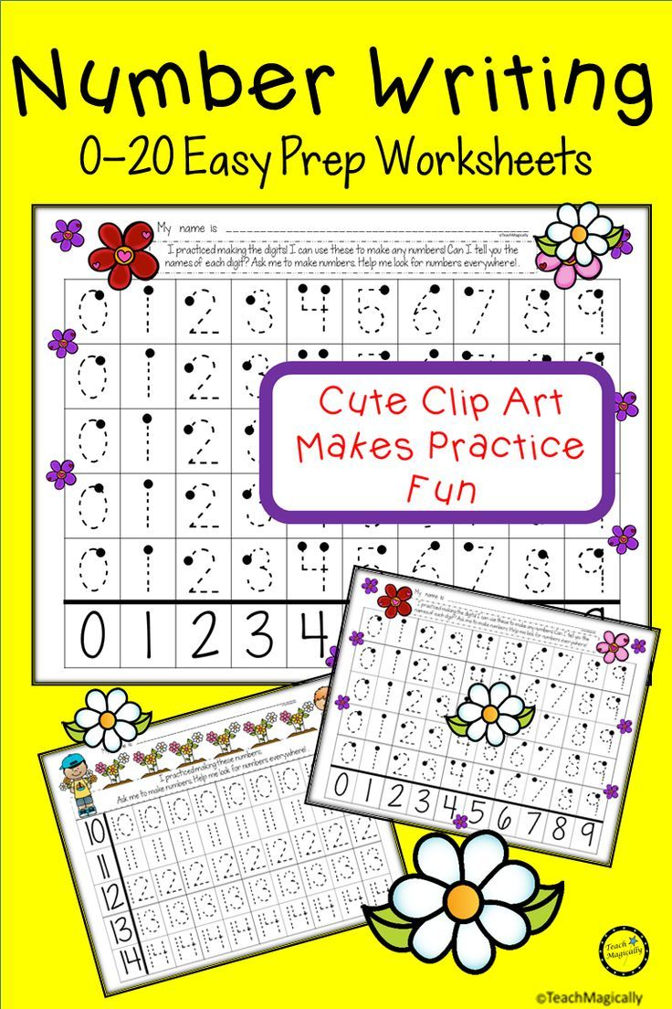 Number Writing Practice 0 20 With Cute Flower Theme For Spring Printable Worksheets For Kindergarten Writing Numbers Writing Practice Number Writing Practice