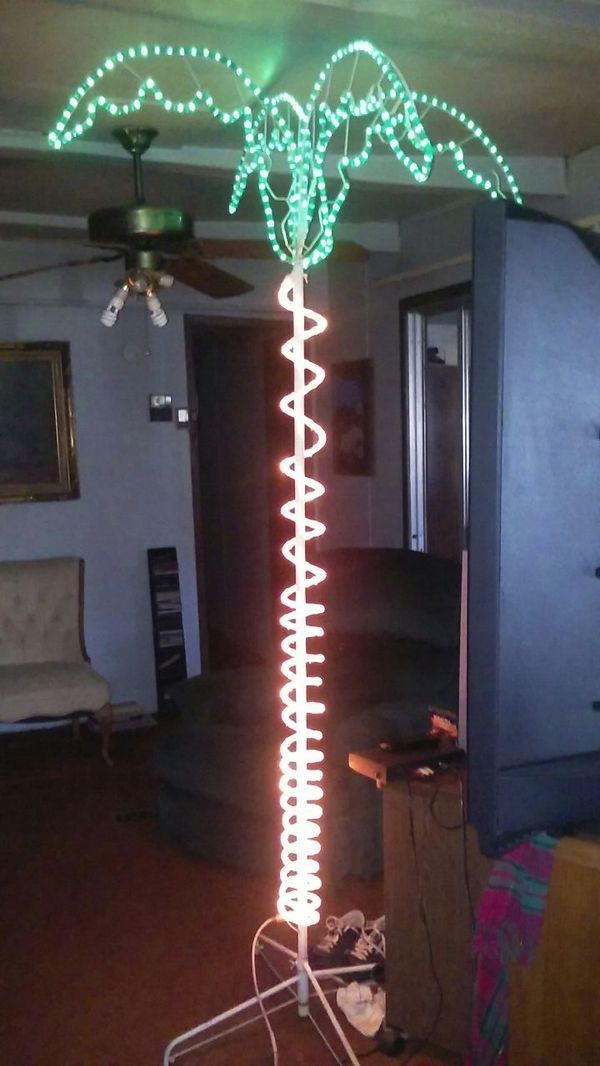 Lighted palm tree. Stands 7 ft tall. (Furniture) in Boiling Springs, SC - OfferUp
