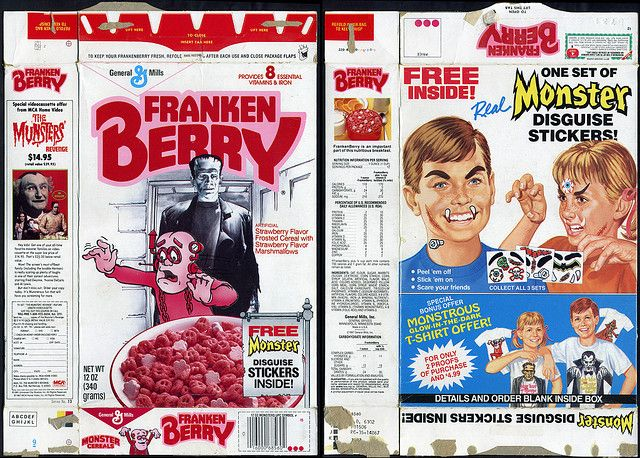 general+mills+cereal | General Mills - Franken Berry - Frankenberry - cereal box - Monster ...