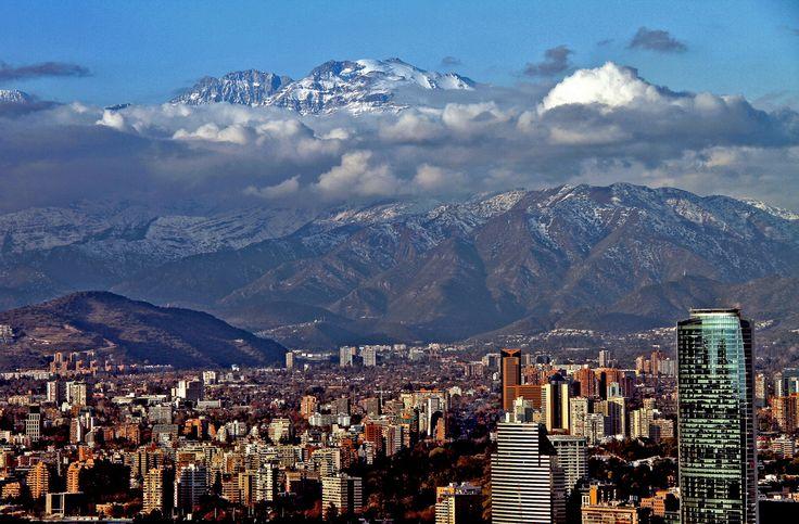 https://flic.kr/p/acKc4q | Santiago de Chile. | Al fondo el Cerro El Plomo.