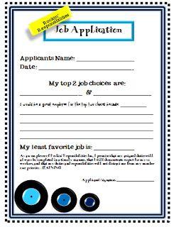 classroom job application grade 4