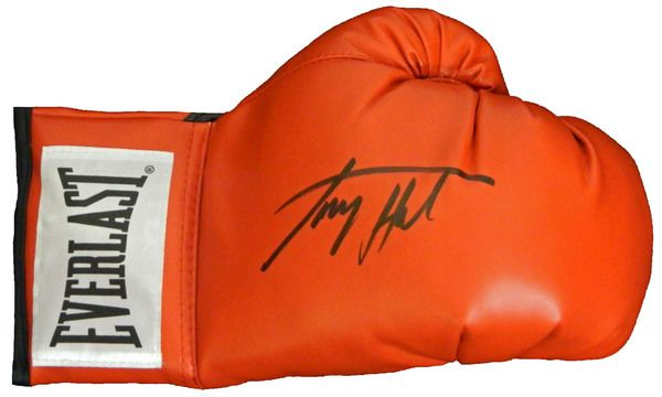 Larry Holmes Signed Everlast Red Boxing Glove
