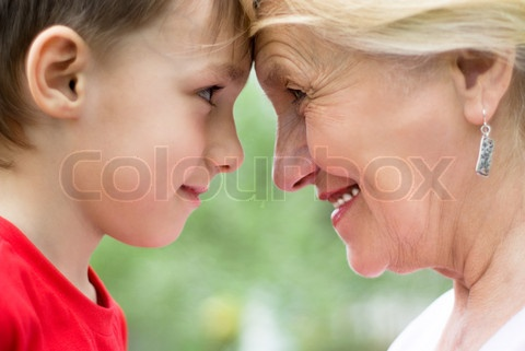Image of 'Grandmother with grandson'