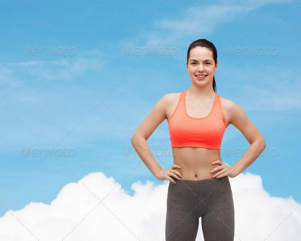 smiling teenage girl in sportswear ...  adult, athlete, beautiful, blue, body, bodycare, care, clothes, cloud, diet, dieting, exercise, exercising, fit, fitness, girl, gym, happy, health, healthcare, healthy, hispanic, latin, lose, losing, loss, people, person, shaping, sky, slender, slim, slimming, smile, smiling, sport, sportive, sportswear, sportswoman, sporty, teen, teenage, tracksuit, train, training, weight, white, woman, workout, young