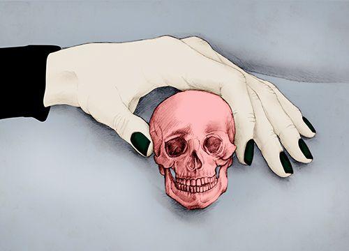 Illustration tête de mort, vanité, memento mori Florence Gendre