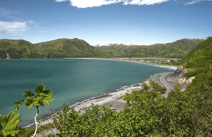 Pasagshak Beach View in Kodiak, Alaska.