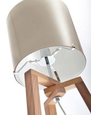 Lámpara de pie / moderna / de interior / de madera - TREPAI by Favaretto&Partners - Vetreria Vistosi - Vídeos