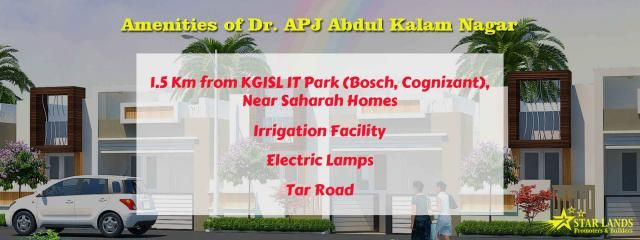 Amenities #Amenities of Dr. APJ Abdul Kalam nagar We deliver the excellence of service in the field of #construction. #Contact details : Star Lands Promoters & Builders Mobile : 95006 45566