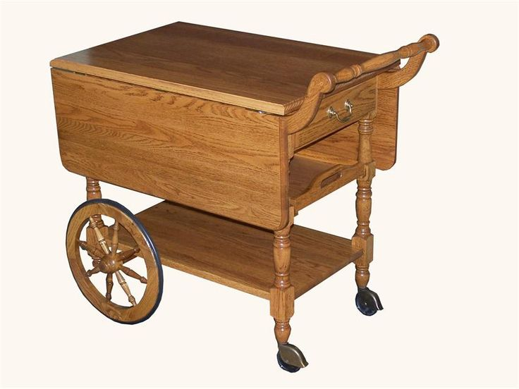 Need extra serving space for those winter gatherings?  Consider our Amish Hardwood Tea Cart!