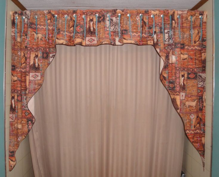 designer shower curtains with valance - Courtyard Garden And Pool ...