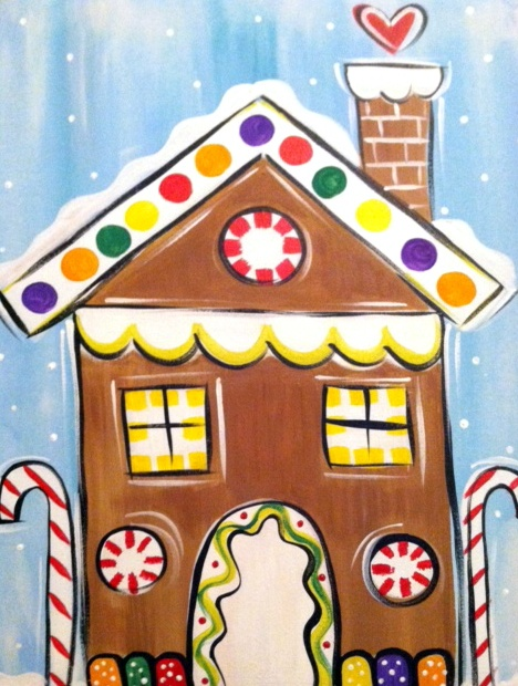 2nd Gingerbread House To Consider. Christmas CanvasChristmas  PaintingsChristmas Art ProjectsChristmas CraftsWinter ChristmasChristmas  IdeasKids ...