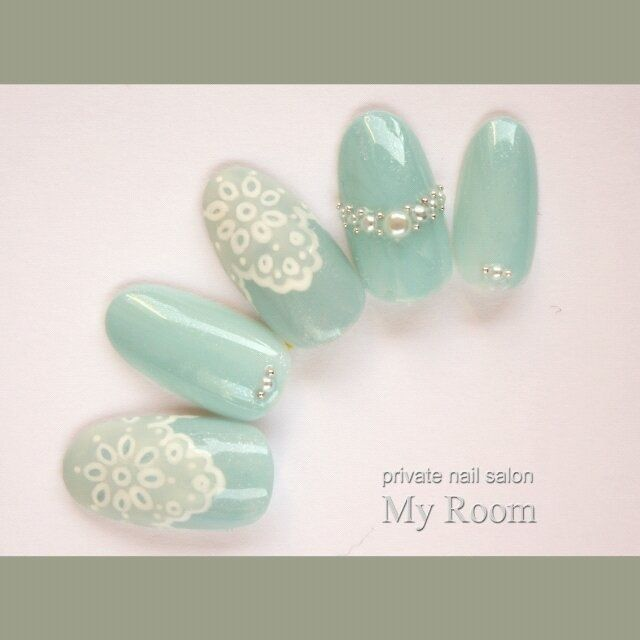 mint blue and lace