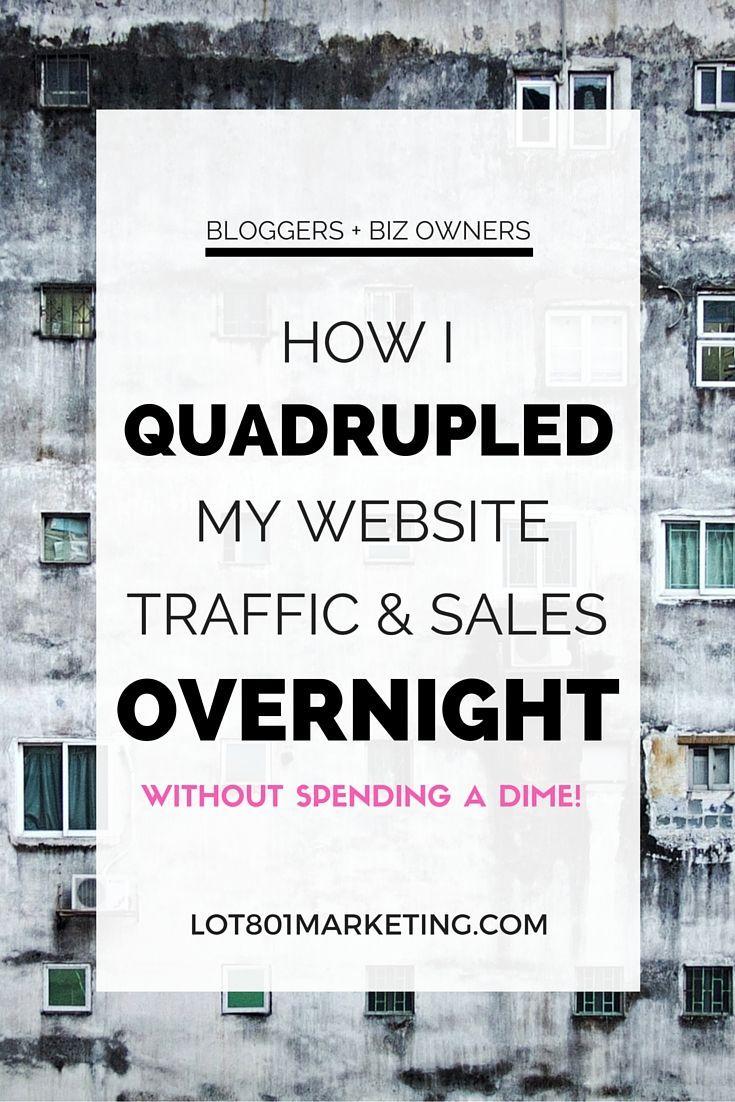 How I Quadrupled My Website Traffic and Sales Overnight - http://www.popularaz.com/how-i-quadrupled-my-website-traffic-and-sales-overnight/