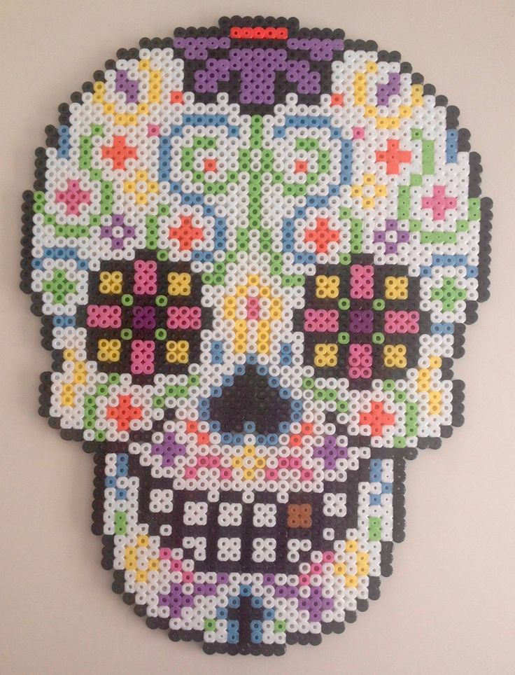 Day of the dead sugar skull door MadebyBlackSheep op Etsy