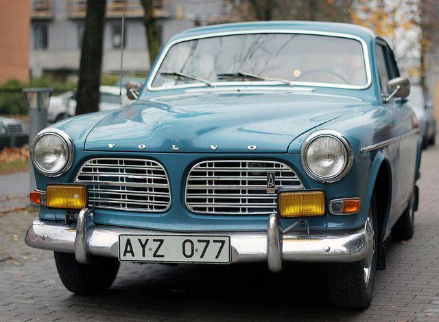A Blue 1969 Volvo Amazon.
