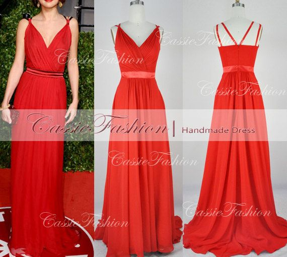 Hey, I found this really awesome Etsy listing at https://www.etsy.com/listing/130681806/straps-sexy-v-neck-chiffon-red-long-prom