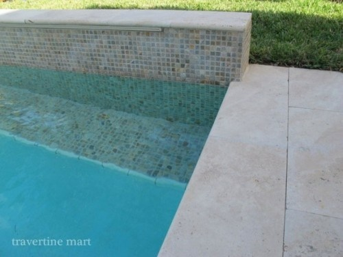 Travertine Mosaics Waterfall Travertine Pool Travertine Pool