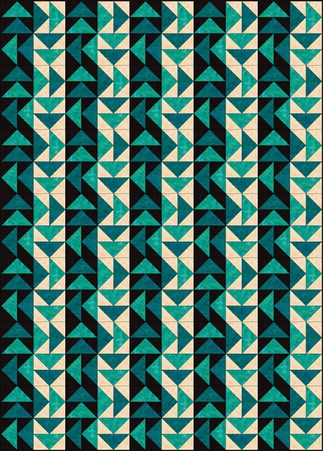Free Quilt Patterns for Beginning to Experienced Quilters: Strippy Set Dutchman's Puzzle Quilt